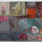 untitled  2009-11 oil on canvas, collage 27.5 × 45.5 cm
