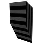 グロストクロB垂直 アクリル、寒冷紗、MDFボード h. 18.0×w. 9.0×d. 5.0 cm