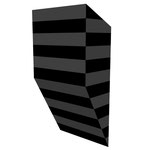 グロストクロB水平 アクリル、寒冷紗、MDFボード h. 18.0×w. 9.0×d. 5.0 cm