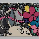 Romantic curly hair Ⅷ acrylic, enamel canvas 45.5 × 53.0 cm