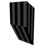 クロトグロスS垂直 アクリル、寒冷紗、MDFボード h. 18.0×w. 9.0×d. 5.0 cm
