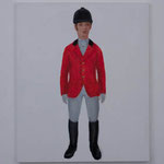 Riding clothes  acrylic on canvas 72.7 × 60.6 cm