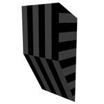 グロストクロS水平 アクリル、寒冷紗、MDFボード h. 18.0×w. 9.0×d. 5.0 cm
