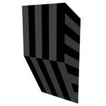 グロストクロS上斜 アクリル、寒冷紗、MDFボード h. 18.0×w. 9.0×d. 5.0 cm