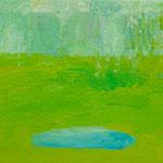 沢  oil on canvas 16.0 × 23.0 cm
