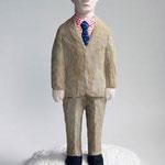 イギリスの男:Englishman 2014 h.24.5×w.15.0×d.14.0cm acrylic, plaster
