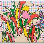 a scene in WONDERLAND (daytime) acrylic, enamel on canvas 65.2 × 100.0 cm