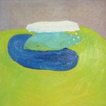 雲行き  oil on canvas 41.0 × 41.0 cm