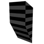 クロトグロスB水平 アクリル、寒冷紗、MDFボード h. 18.0×w. 9.0×d. 5.0 cm