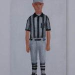 Referee  acrylic on canvas 53.0 × 33.3 cm