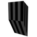 グロストクロS垂直 アクリル、寒冷紗、MDFボード h. 18.0×w. 9.0×d. 5.0 cm