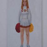 Cheerleader  acrylic on canvas 53.0 × 33.3 cm