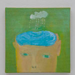 Idea  oil on canvas 22.7 × 22.7 cm