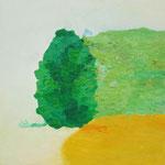 藪の中  oil on canvas 33.4 × 33.4 cm