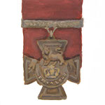 The Victoria Cross  acrylic on canvas 27.3 × 22.0 cm
