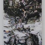 cascade oil on canvas 45.5 × 37.9 cm