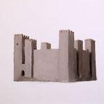 Sadaba Castle  acrylic on canvas 31.8 × 41.0 cm
