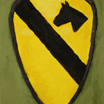 1st Cavalry Division  acrylic on canvas 22.7 × 15.8 cm