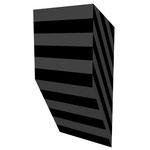 グロストクロB下斜 アクリル、寒冷紗、MDFボード h. 18.0×w. 9.0×d. 5.0 cm
