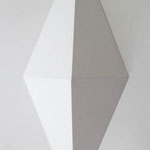 ダイアモンドチェック  アクリル、寒冷紗、MDFボード h. 30.5×w. 12.0×d. 6.0 cm