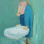 水桶:Bucket  1993 oil on canvas 45.7 × 37.9 cm