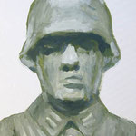 German infantry  acrylic on canvas 33.3 × 24.0 cm