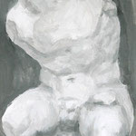 ベルヴェデーレのトルソ:Belvedere Torso(Plaster figure series) 2014 33.3×24.2cm acrylic on canvas