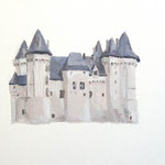 Chateau de Saumur  acrylic on canvas 31.8 × 41.0 cm