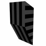 クロトグロスS水平 アクリル、寒冷紗、MDFボード h. 18.0×w. 9.0×d. 5.0 cm