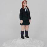 Student  plaster, acrylic h. 27.5 × w. 27.0 × d. 20.0 cm