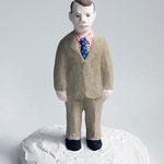 イギリスの男(小):Englishman(small) 2014 h.15.0×w.11.5×d.10.5cm acrylic, plaster