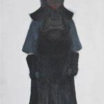 Kendo uniform  acrylic on canvas 53.0 × 33.3 cm