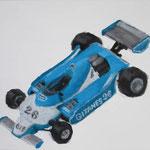 Ligier  acrylic on canvas 37.9 × 45.5 cm