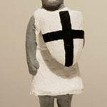 Knight (White)  plaster, acrylic h. 21.8 × w. 14.5 × d. 13.0 cm