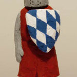 Knight (Red)  plaster, acrylic h. 21.2 × w. 12.5 × d. 13.0 cm