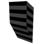 クロトグロスB上斜 アクリル、寒冷紗、MDFボード h. 18.0×w. 9.0×d. 5.0 cm