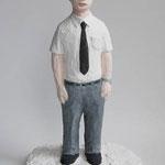 アメリカの男:American Man 2014 h.26.5×w.17.0×d.15.0cm acrylic, plaster