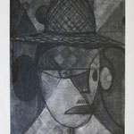 案山子  charcoal, conte on paper 29.7 × 21.0 cm