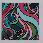 Romantic curly hair Ⅶ acrylic, enamel canvas 40.9 × 40.9 cm