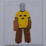 Goalkeeper  acrylic on canvas 53.0 × 45.5 cm