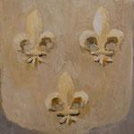 Fleur-de-lis  acrylic on canvas 22.7 × 15.8 cm