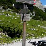 Fanes - Pass (2172 m)   Auf dem Dolomiten Höhenweg Nr. 1