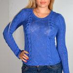 Синий джемпер с застёжкой  $105