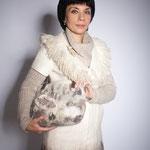 Пальто с мехом из флиса Мюлле
