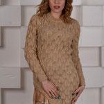 Платье с шифоновой вставкой  $135
