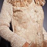 Жакет с меховой отделкой их флиса Ромни