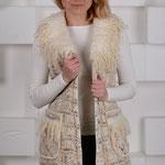 Пальто-жилет в твидовой технике  $ 280