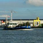 Auf dem Noord Richtung Dordrecht