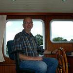 Der Skipper freut sich
