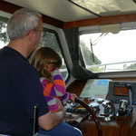Skipper mit Enkelkind
